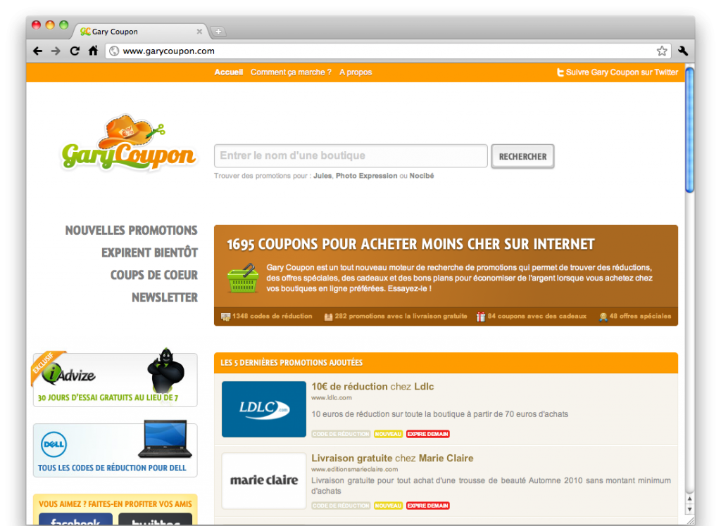 Gary coupon acheter moins cher sur internet digital thinking - Acheter pas cher sur internet ...