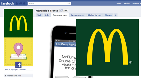 Facebook Places avec McDonald's