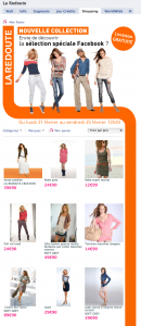 Catalogue La Redoute sur Facebook