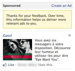 Facebook Like Publicité