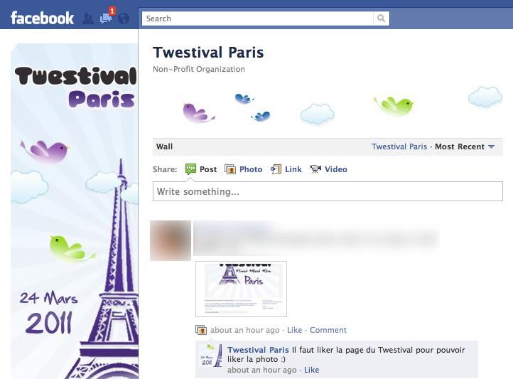 Page Facebook Twestival Paris