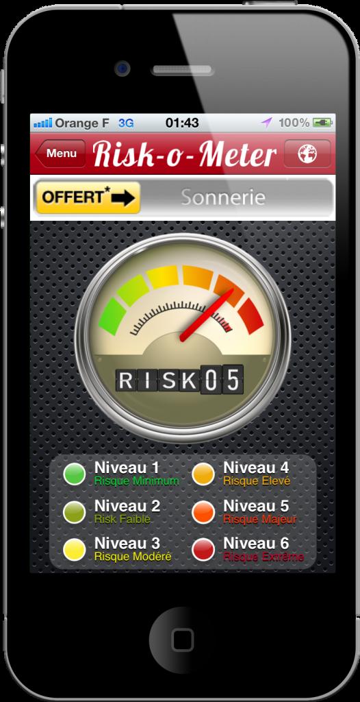 Le Risk-o-Mètre de l'app BeSafe!