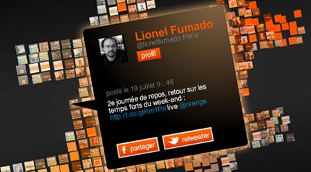 Suivez Orange sur les réseaux sociaux en temps réel