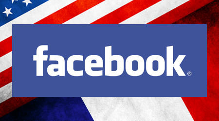 Infographie : Facebook aux USA contre Facebook en France