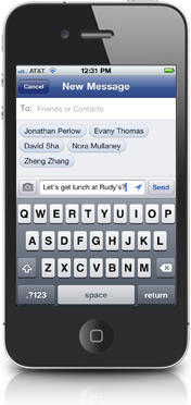 Facebook Messenger pour iPhone