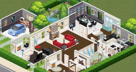 Un aperçu du jeu Les Sims Social sur Facebook