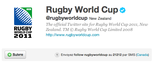 Twitter Rugby World Cup