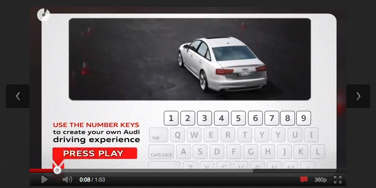Closed Course: An Interactive A6 Driving Video