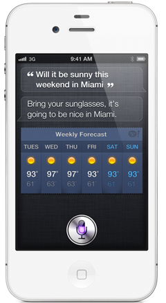 iPhone 4S, assistant personnel Siri