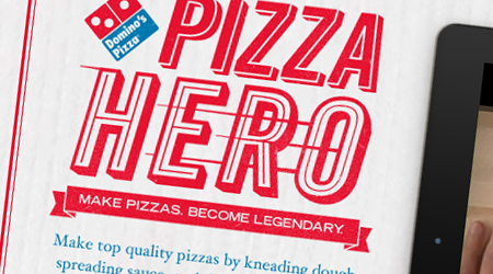 Domino's Pizza Hero, une application iPad advergame