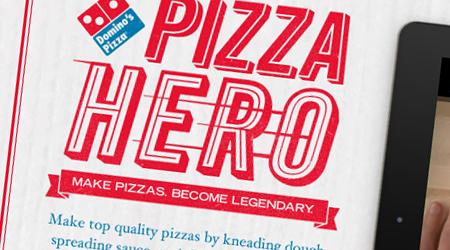 Domino's Pizza Hero, une application iPad advergame