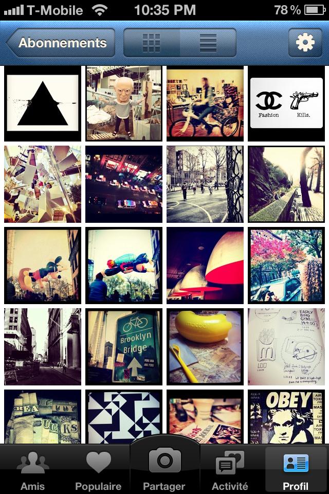 Capture d'écran du profil Instagram