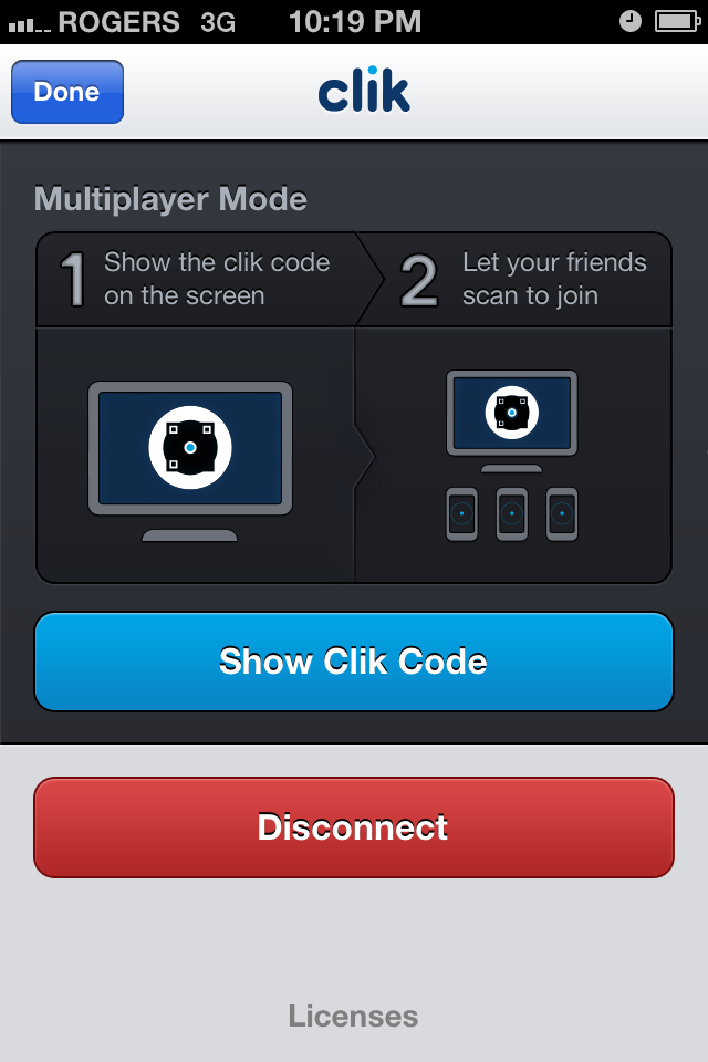 Clik : Multiplayer Mode (iPhone) - sélection multiple