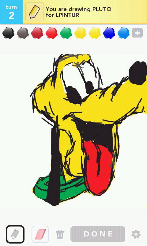 Exemple d'un dessin particulièrement réussi d'un personnage Disney®